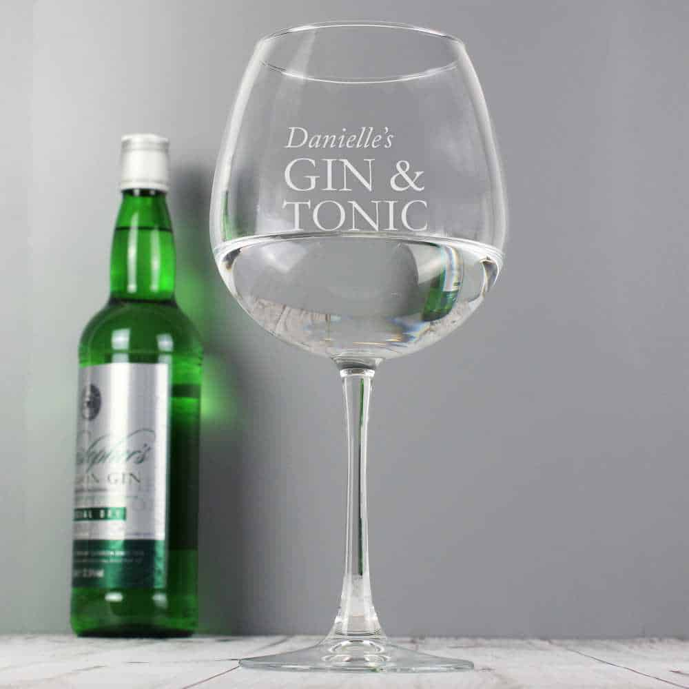 personalised gin glass for her