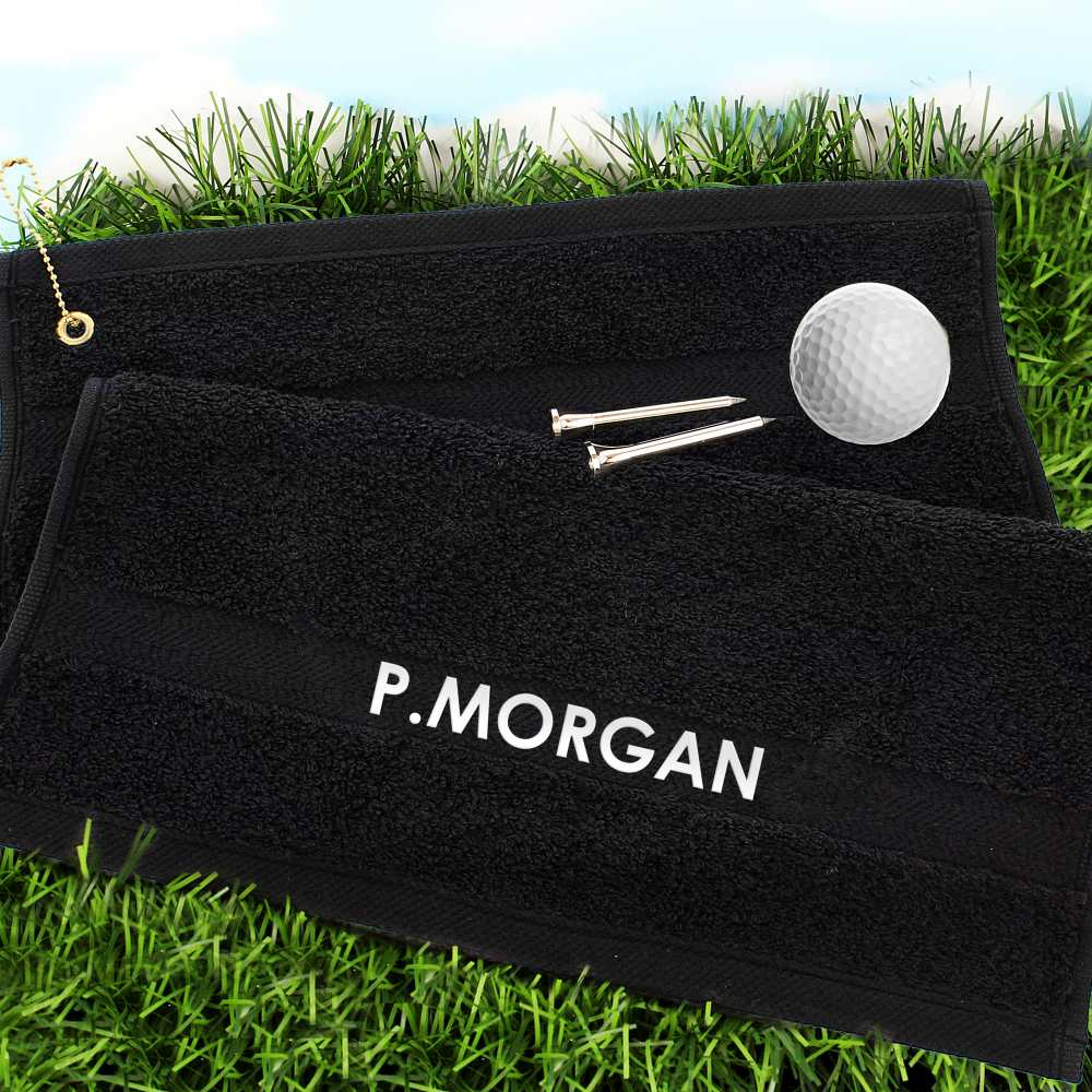 personalised golf towels