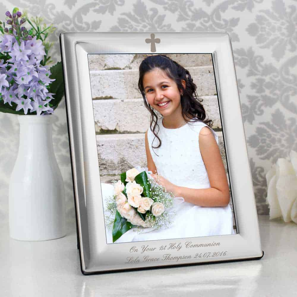 personalised holy communion photo frame