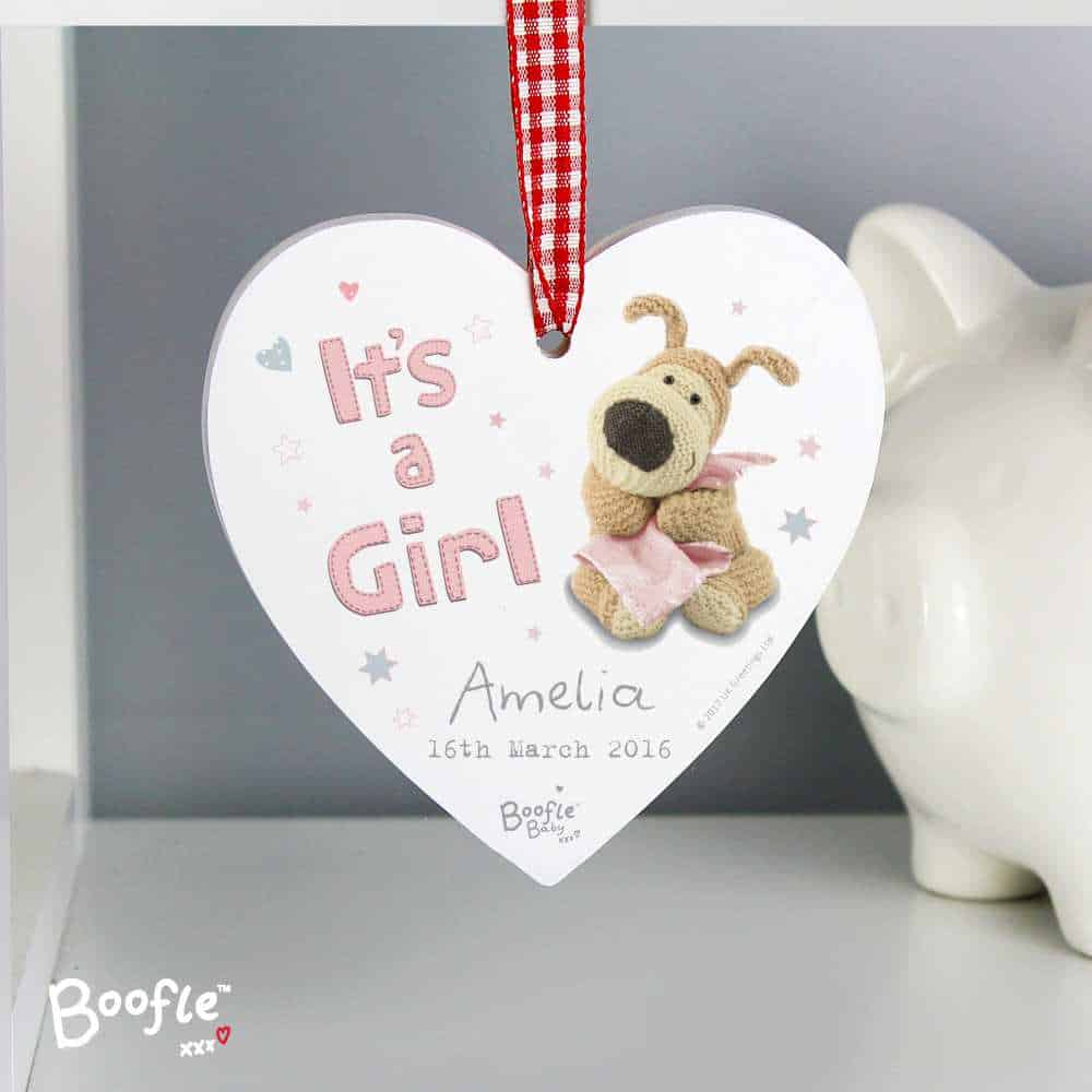 personalised its a girl bauble