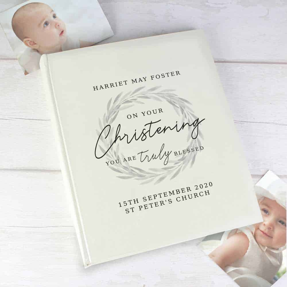 personalised photo album for christenings