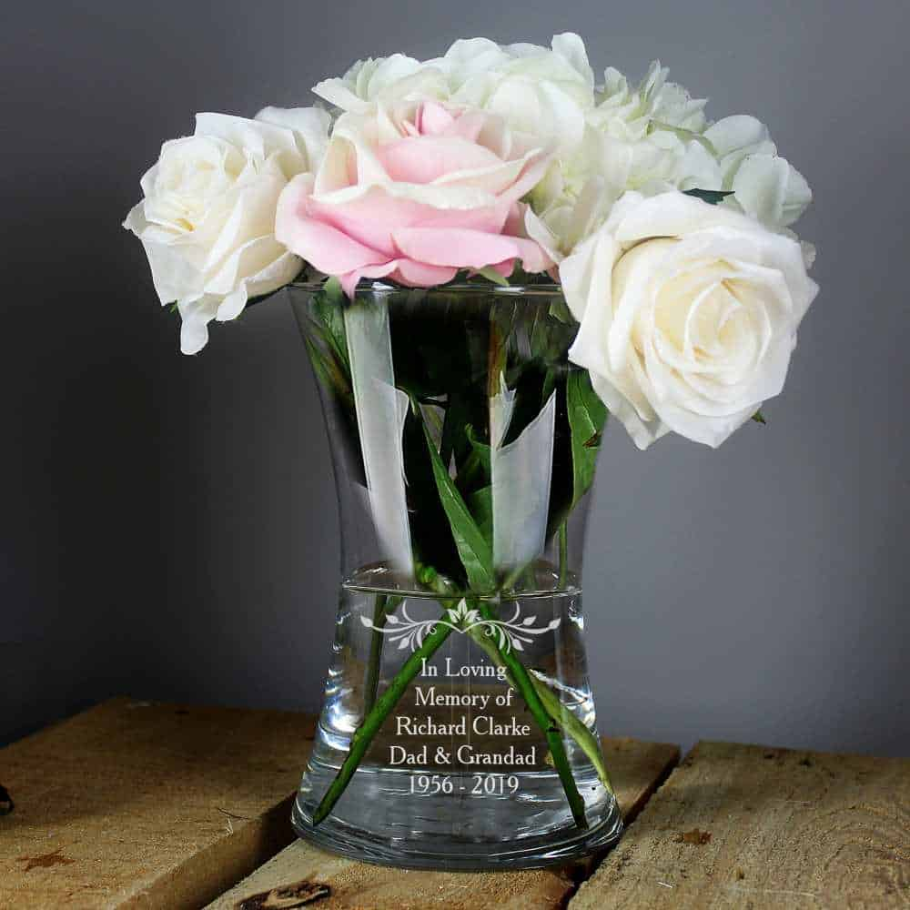 personalised vase for wedding anniversary gift uk