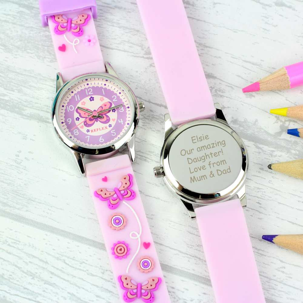 personalised watch to help you tell the time for girls
