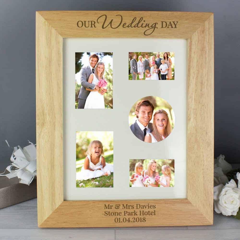 personalised wedding day photo frame wedding gift