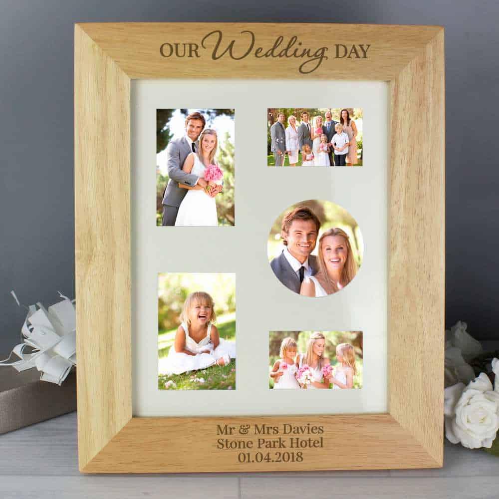 personalised wedding day photo frame
