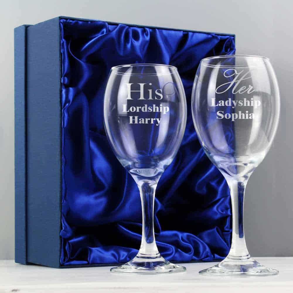 personalised wine glasses for wedding anniversary