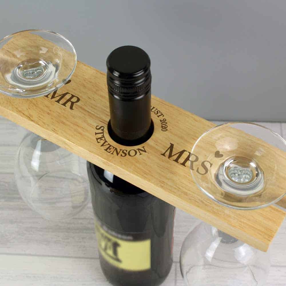 personlised wine related wedding gift