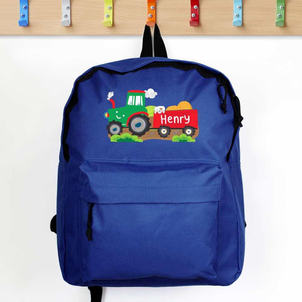 tractor theme backpacks for boys uk