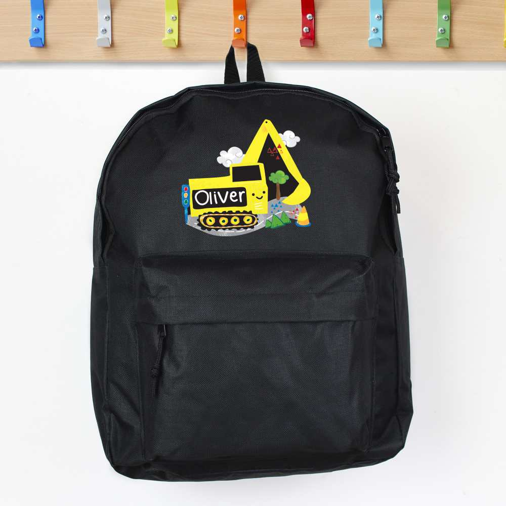 yellow digger backpack for boys