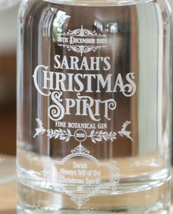 Personalised 'Christmas Spirit' Botanical Gin