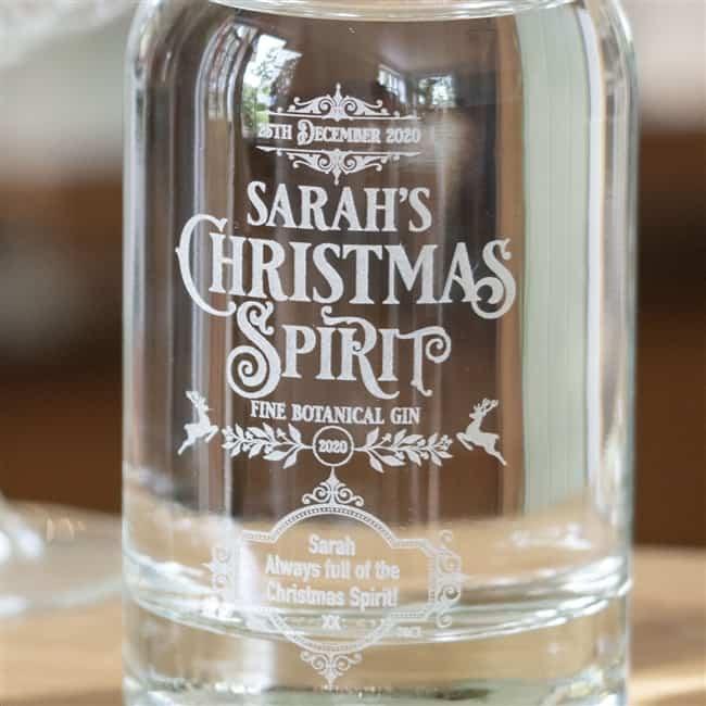 Personalised 'Christmas Spirit' Botanical Gin