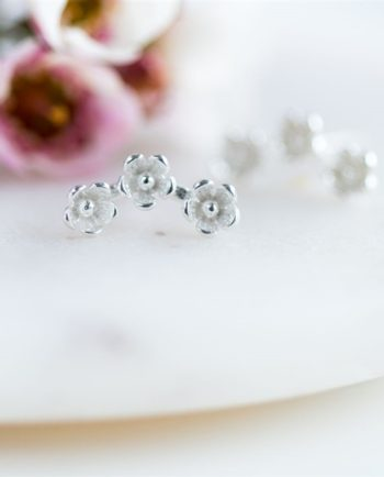 Sterling Silver 'Wild Flower' Stud Earrings