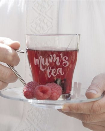 Personalised Glass Tea Cup