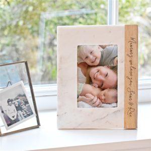 Personalised Mango & Marble Photo Frame
