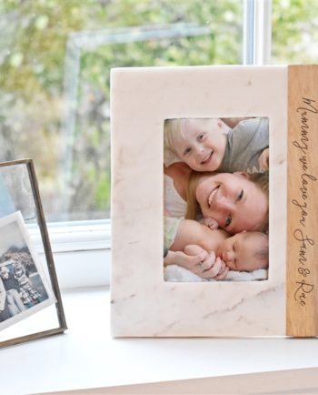 Personalised Mango & Marble Photo Frame