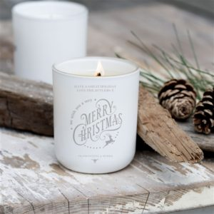 Personalised Luxury 'Merry Christmas' Soy Candle