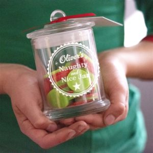 Personalised Naughty & Nice Jar