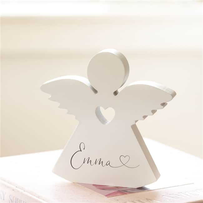 Personalised Wooden Angel Ornament