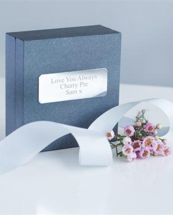 Personalised Flower Bouquet 19cm Rose Gold Bracelet