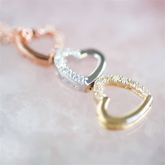 Tumbling Hearts Diamond Necklace