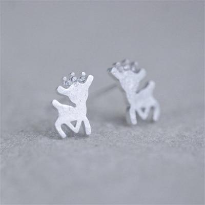 Sterling Silver Reindeer Earrings