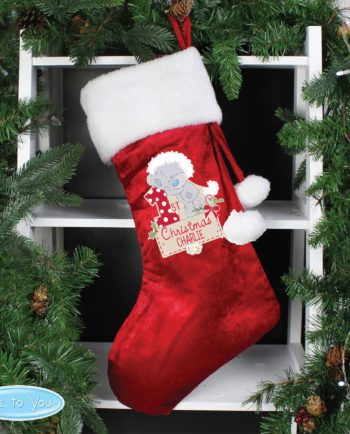 Personalised Tiny Tatty Teddy 'My 1st Christmas' Luxury Red Stocking