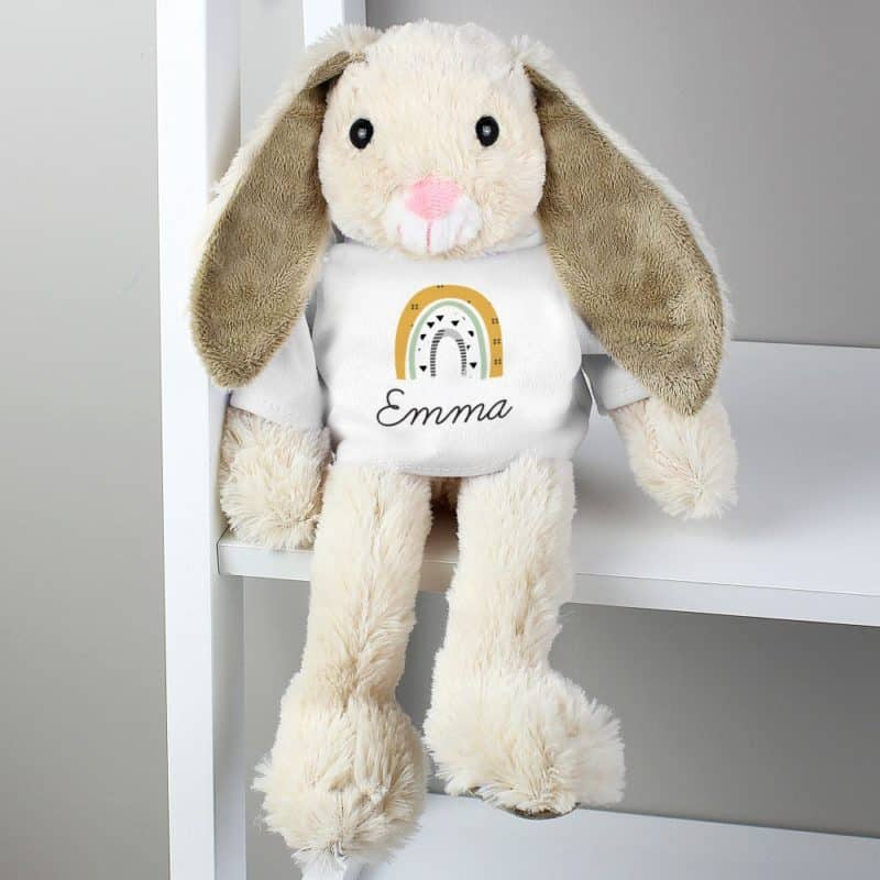 Personalised Rainbow Bunny Rabbit