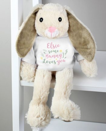 Personalised 'Some Bunny Loves You' Bunny Rabbit Soft Toy