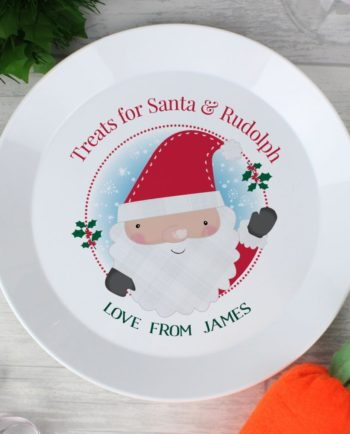 Personalised Santa Christmas Eve Plate