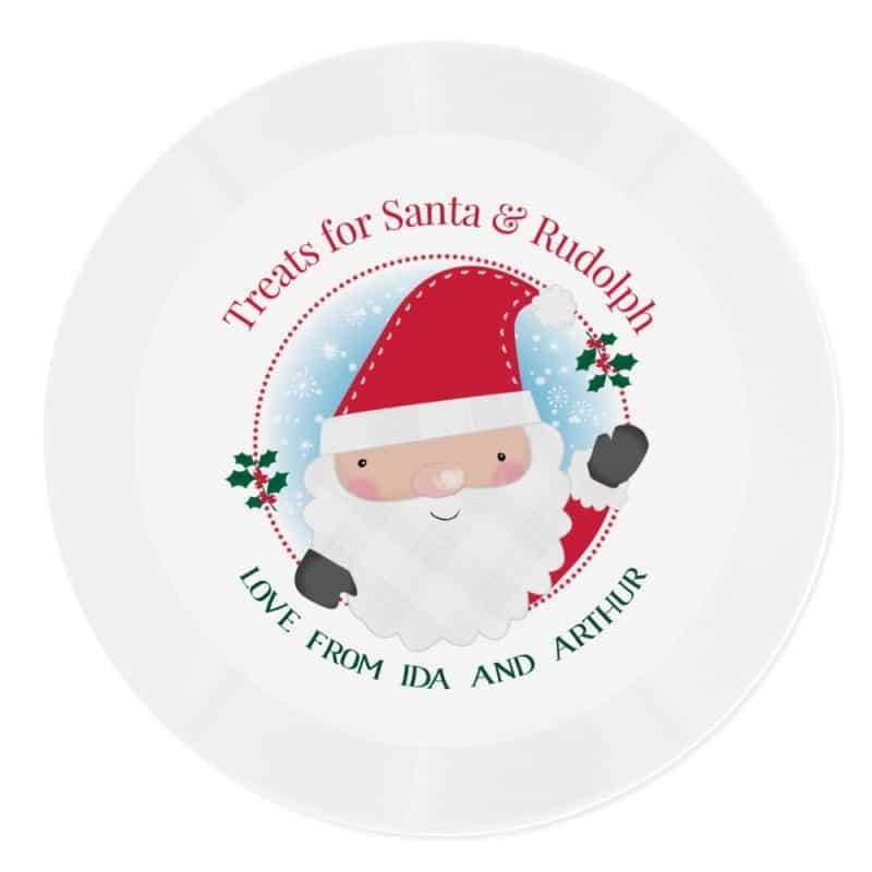 Personalised Santa Christmas Eve Plate