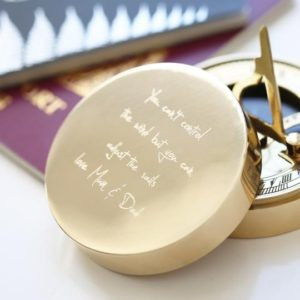 Personalised Own Handwriting Nautical Sundial Compass