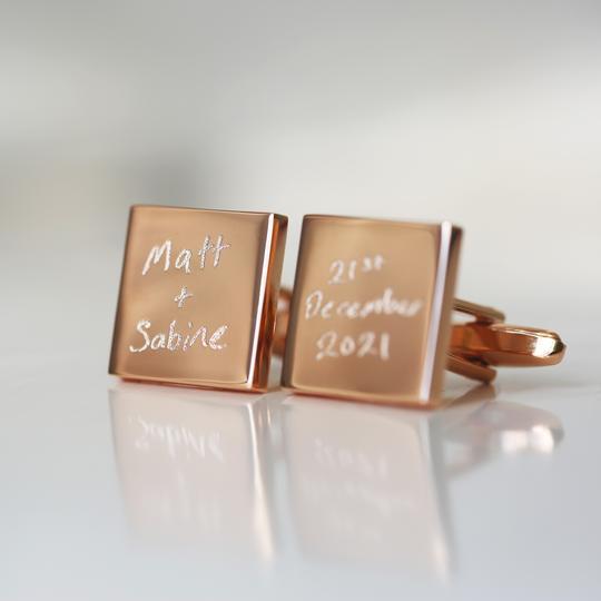 Personalised Own Handwriting Cufflinks