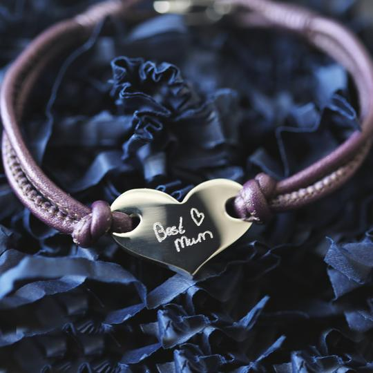 Personalised Own Handwriting Hearts Forever Bracelet