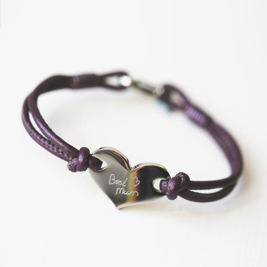 Personalised Own Handwriting Hearts Forever Bracelet