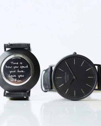Personalised Own Handwriting Mens Minimalist Black Watch