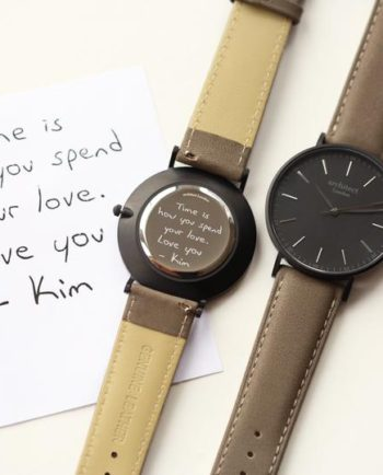 Personalised Own Handwriting Men's Minimalist Watch