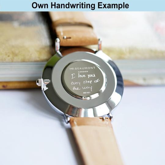 Personalised Own Handwriting Mr Beaumont Watch