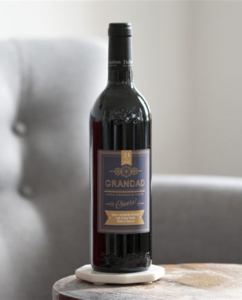 Personalised Classic Label Bottle Of Red Wine