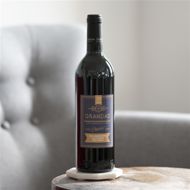 Personalised 'Classic Label' Bottle Of Red Wine