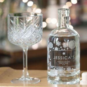 Personalised 'Snowflake' Botanical Gin