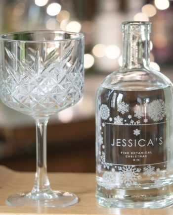 Personalised 'Snowflake' Botanical Gin
