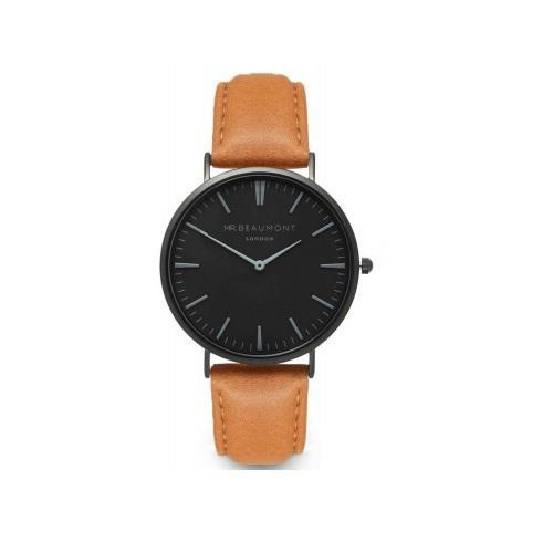 Personalised Own Handwriting Mr Beaumont Men's Camel Watch