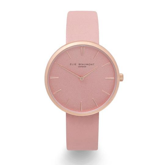 Personalised Own Handwriting Elie Beaumont Hampstead Pink Ladies Watch