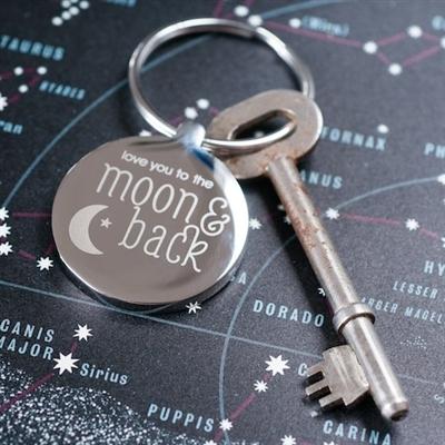 Personalised 'Moon & Back' Keyring