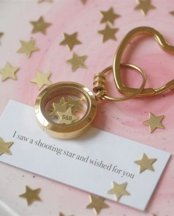 Personalised Shooting Star Keyring