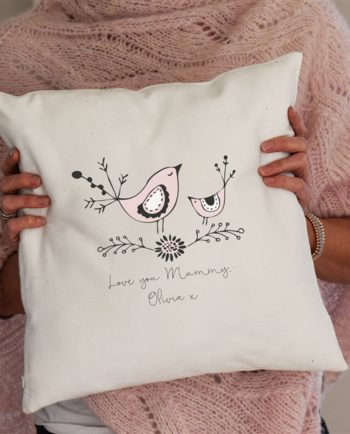 Personalised Mummy Bird Cushion