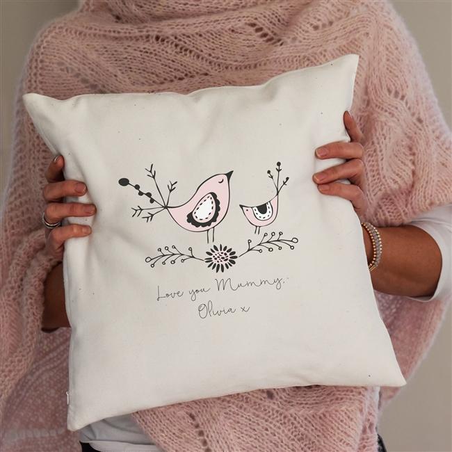 Personalised 'Mummy Bird' Cushion