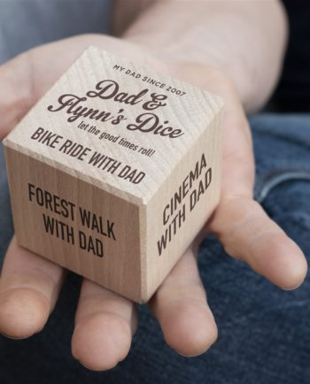 Personalised Wooden Dad & Me Dice