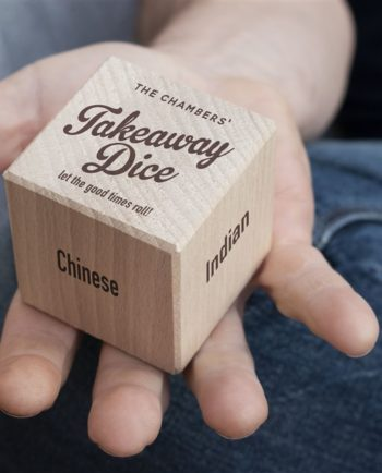 Personalised Take Away Wooden Dice