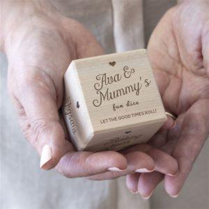 Personalised Mum's Wooden Dice